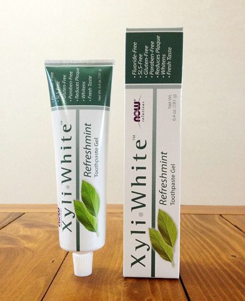 Зубная паста без фтора Now Foods, Solutions, XyliWhite Toothpaste Gel, Fluoride Free, Refreshmint