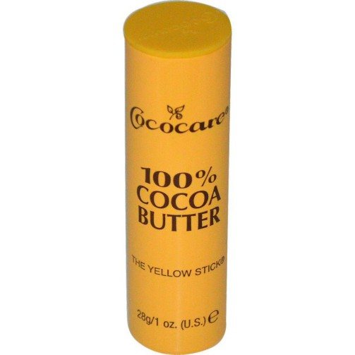 Натуральное какао-масло в стике Cococare, 100% Cocoa Butter, The Yellow Stick