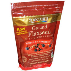 Молотые семена льна со смесью ягод Spectrum Essentials, Ground Flaxseed with Mixed Berries